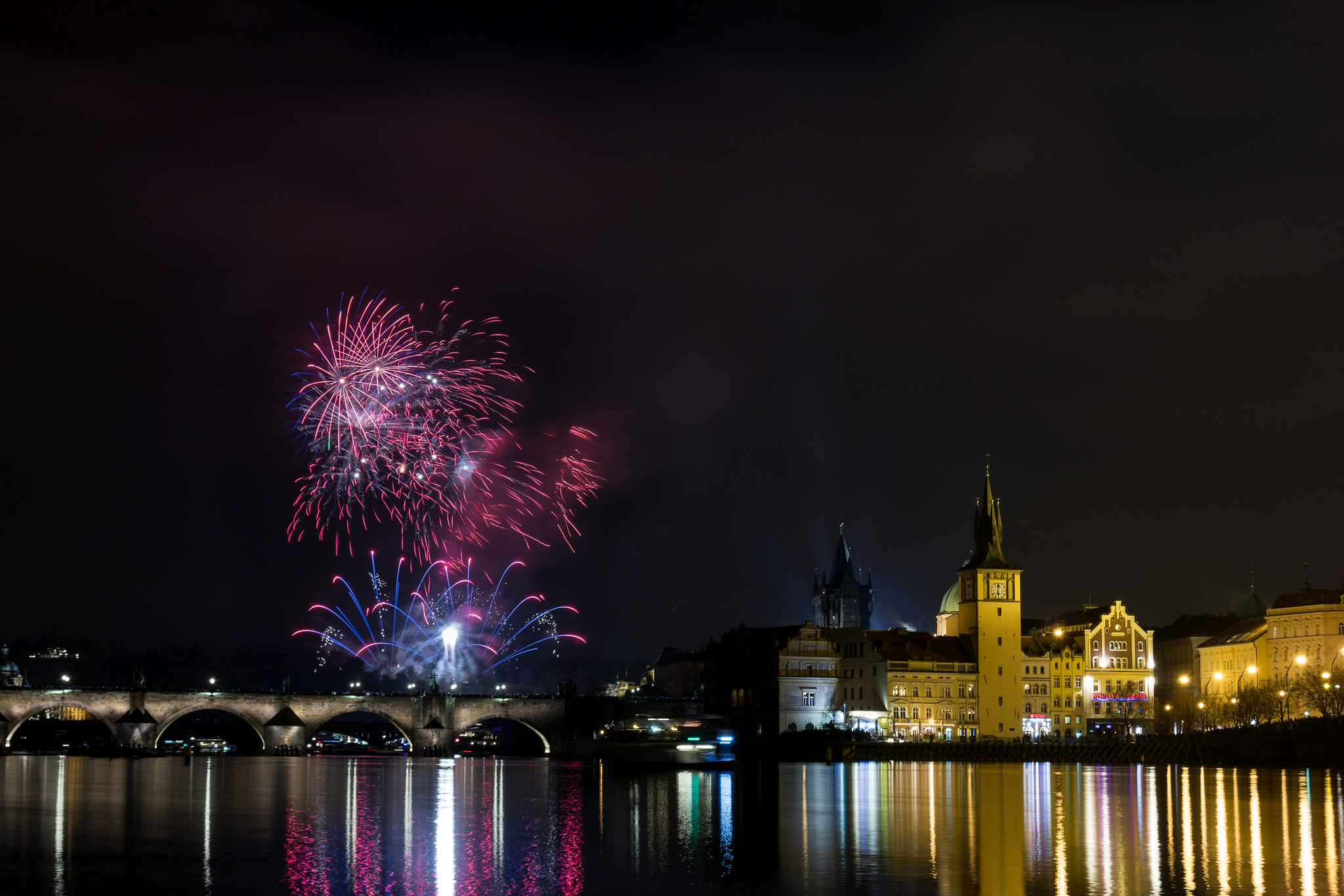 Prague New years fireworks